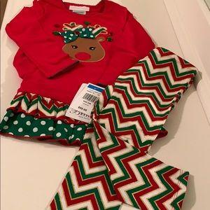 Baby girl Christmas dress and leggings